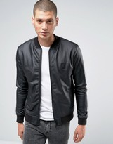Religion Bomber Jacket In Coated Jersey