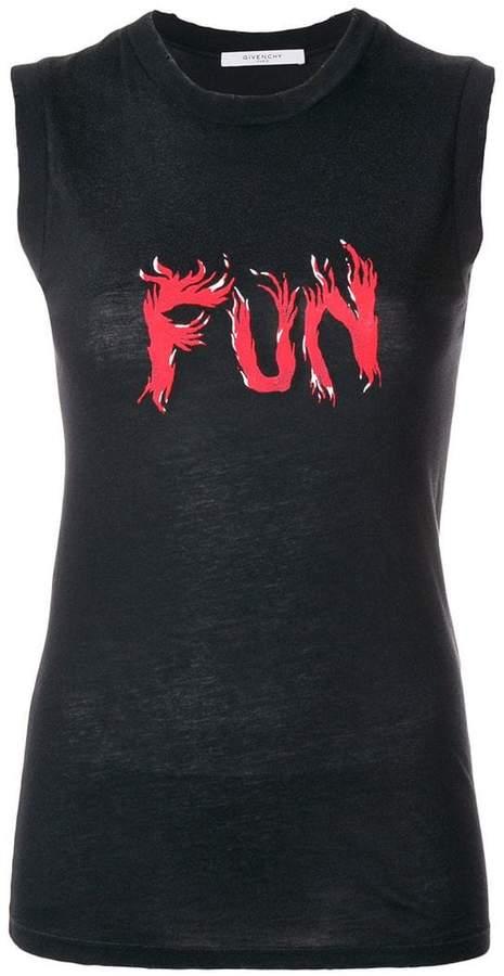 Givenchy Fun slogan tank top