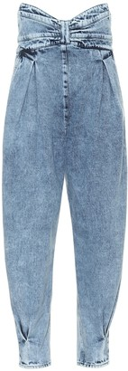 RED Valentino High-rise tapered jeans