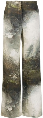 Acne Studios Landscape Painting Print Trousers