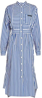 Prada Striped Midi Shirtdress