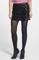 ASTR Sequin Velvet Miniskirt