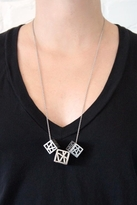 Low Luv by Erin Wasson 3 Cage Cube Necklace in Silver