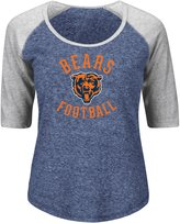 "Majestic Chicago Bears Women's NFL ""Champion"" Scoop Neck Raglan T-shirt"