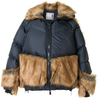 Nike Faux Fur Panelled Padded Jacket