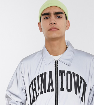 Chinatown Market Arc reflective coach jacket in silver