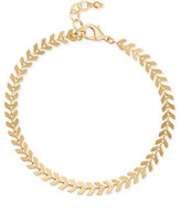 INC International Concepts Chevron Link Ankle Bracelet, Only at Macy's
