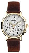 Ingersoll Men's The St Johns Quartz Watch with White Dial and Brown Leather Strap I01703