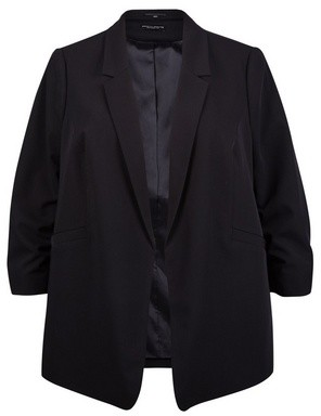 Dorothy Perkins Womens Dp Curve Black Ruched Sleeve Blazer, Black
