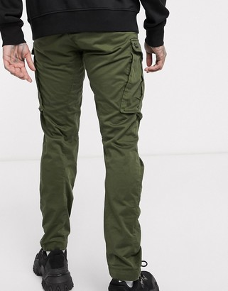 G Star G-Star Rovic Zip 3D straight tapered fit pants in khaki
