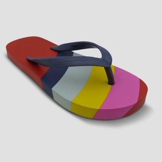 Disney Girls' Mickey Mouse Rainbow Flip Flops -