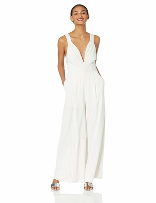 Finders Keepers findersKEEPERS Women's Flamenco Sleeveless Wide Leg Plunging Open Back Jumpsuit