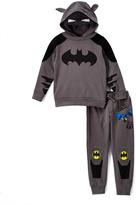 Children's Apparel Network Batman Ear Hoodie & Sweatpants - Boys