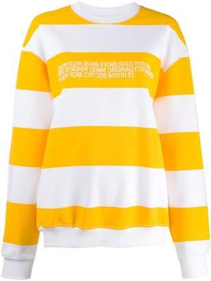 Calvin Klein Jeans Est. 1978 stripe-print logo sweatshirt