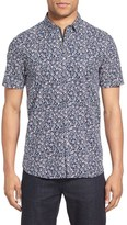 Ted Baker 'Thorshor' Modern Slim Fit Print Short Sleeve Sport Shirt