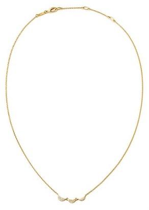 Celara 14K Yellow Gold & Diamond Half Moon Trio Necklace