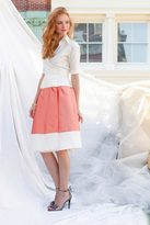 Shabby Apple Carnegie Block Skirt Coral