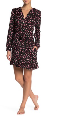 Betsey Johnson Hooded Long Sleeve Robe