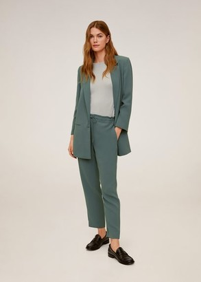 MANGO Straight suit pants green - XS - Women