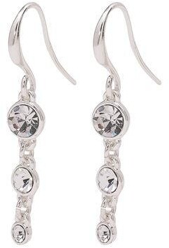Pilgrim Lucia Silver Plated Crystal Earrings