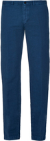 Massimo Alba Slim-leg linen and cotton-blend trousers