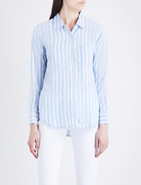 Rails Carter striped woven shirt
