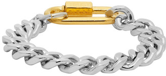 IN GOLD WE TRUST Silver and Gold Cuban Link Bracelet