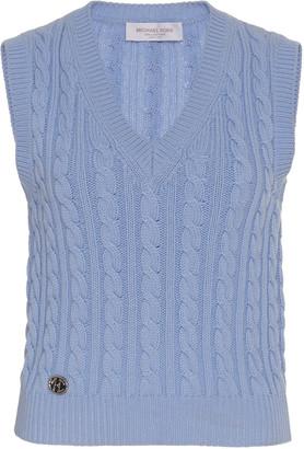 Michael Kors Cable-Knit Cashmere Vest