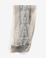 White House Black Market Jacquard Oblong Scarf