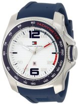 Tommy Hilfiger 1790855 Sport Stainless Steel and Blue Silicone Watch