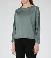 Reiss Ashleigh Embroidery Detail Top