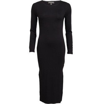 French Connection Womens Midi Dress Black