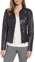 Women's Classiques Entier Band Collar Leather Biker Jacket