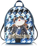 Love Moschino Girl Digital Print Eco Saffiano Leather Small Backpack