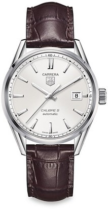 Tag Heuer Carrera 39MM Stainless Steel & Alligator Strap Automatic Watch