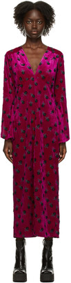 Anna Sui Purple Velvet Wonderwall Dress