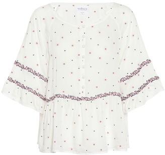 Velvet Linnea bell-sleeve top