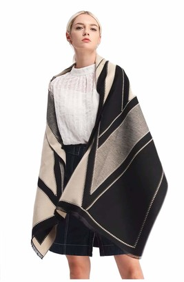 Ws Natural Large Square Scarf Shawl Oversize Blanket Soft Scarves For Women - Grey -