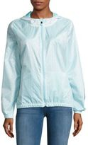 Nanette Lepore Water-Resistant Floral Cutout Hooded Jacket