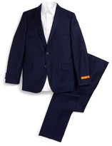 Boy's Tallia Check Wool Suit