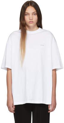 Balenciaga White Mini Logo Oversized T-Shirt