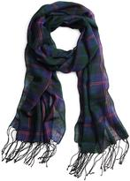 Brooks Brothers Plaid with Double Stripe Scarf