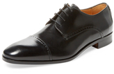 Saks Fifth Avenue Perforated Cap-Toe Blucher Derby Shoe