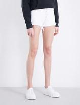 A Gold E AGOLDE Jaden frayed-hem denim shorts