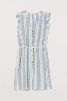 H&M Cotton Butterfly-sleeved Dress