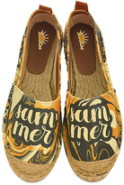 Yellow & Black Swirl 'Summer' Espadrille