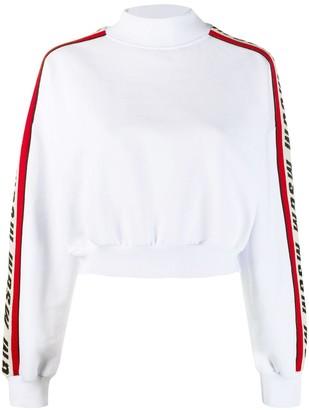 MSGM Logo Stripe Sweatshirt