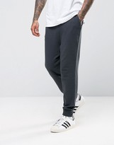 Asos Drop Crotch Joggers In Washed Black