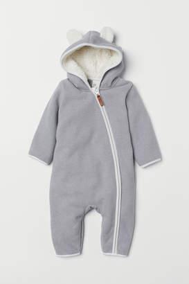 H&M Hooded Fleece Overall