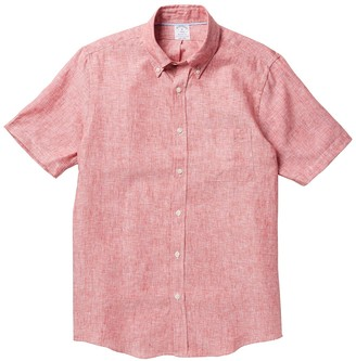 Brooks Brothers Solid Short Sleeve Regent Fit Shirt